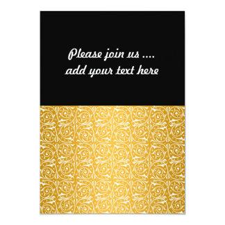 Swirly Vines in Yellow Pattern 5x7 Paper Invitation Card