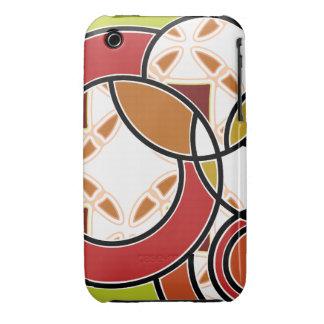 Swirly Vintage Pop orange iPhone 3/3GS Case