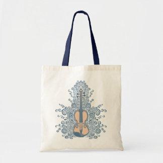 Swirly Violin Budget Tote Bag