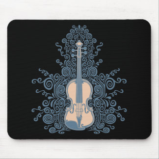 Swirly Violin Mouse Pad