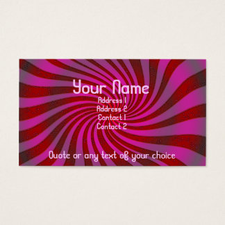 Swirly vortex of awesomeness business card