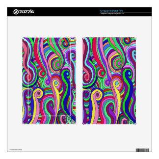 Swirly Waves Kindle Fire Skin
