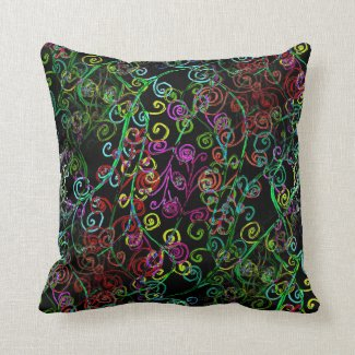 Swirly Whirly Design on Throw Pillow
