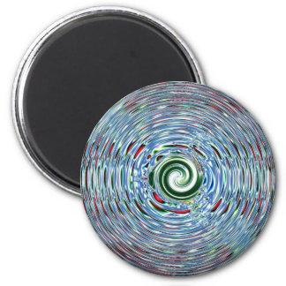 Swirly Whirly 2 Inch Round Magnet