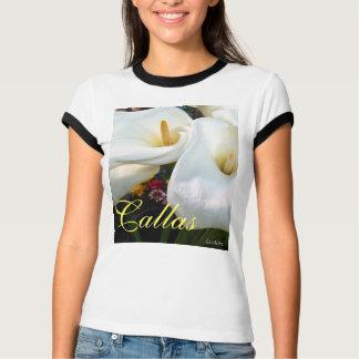 Swirly White Callas T-Shirt
