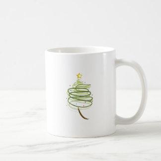 Swirly Xmas Tree Coffee Mug