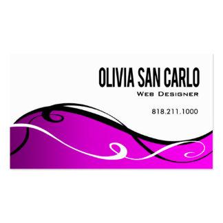 Swirlygig Web Designer business card template