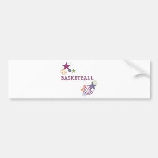 swirlystar-basketball-10x10 car bumper sticker