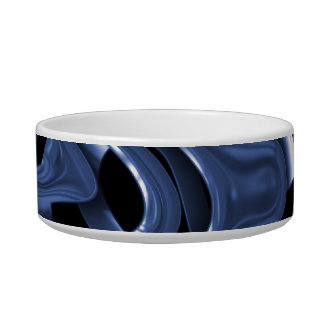 Swiryly Blue Chrome Abstract Art Bowl