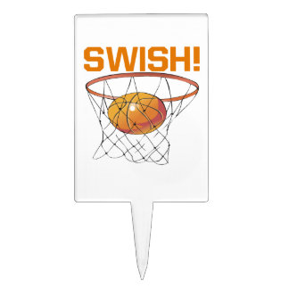 Swish 6 cake toppers