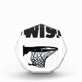 Swish basketball acrylic award