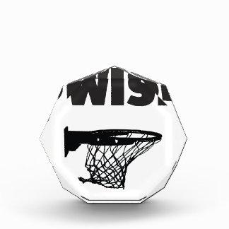 Swish basketball acrylic award