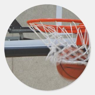 Swish Basketball Hoop Classic Round Sticker