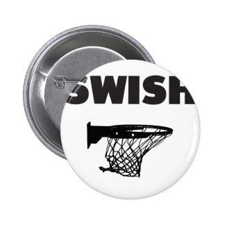 Swish basketball pinback button