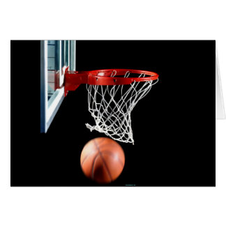 Swish, Basketball through the Net. Card