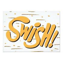 invitations, swish, batman, bat man, 1966 batman, 60's batman, batman action callout, action words, fighting sound effect words, punching sounds, adam west, burt ward, batman tv show, batman cartoon graphics, super hero, classic tv show, Invitation with custom graphic design