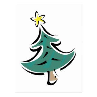 Swish Christmas Tree Postcard