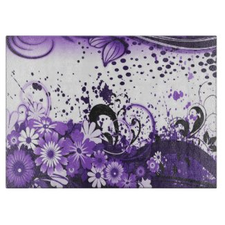 Swish purple cutting board