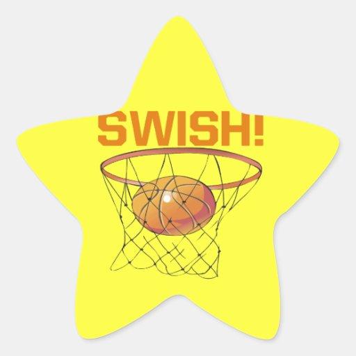 Swish Star Sticker