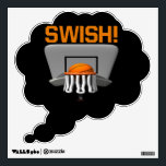 "Swish Wall Decal<br><div class=""desc"">Basketball</div>"