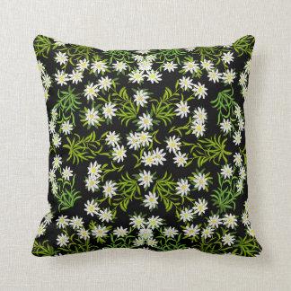 Swiss Alpine Edelweiss Floral Pillow
