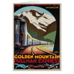 Swiss Alps Greetings with Vintage Poster Print Greeting Card