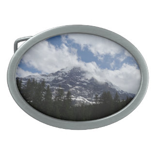 Swiss Alps Oval Belt Buckle
