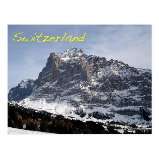 Swiss Alps Post Card