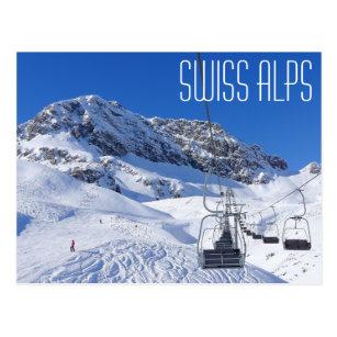 Swiss alps, postcard by brad hines