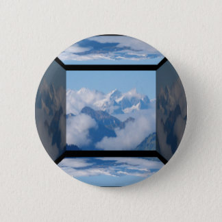 Swiss Alps with Clouds by Celeste Sheffey Pinback Button