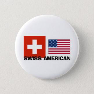 Swiss American Pinback Button