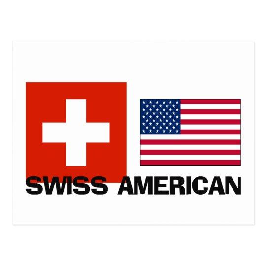 Swiss American Postcard