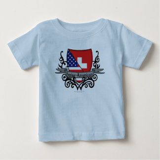 Swiss-American Shield Flag Baby T-Shirt