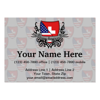 Swiss-American Shield Flag Business Card