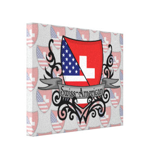 Swiss-American Shield Flag Canvas Prints