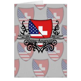 Swiss-American Shield Flag Card