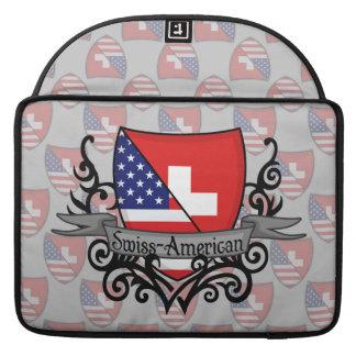 Swiss-American Shield Flag Sleeve For MacBooks