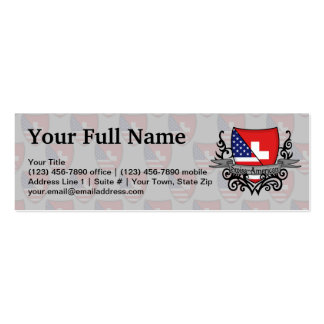 Swiss-American Shield Flag Mini Business Card