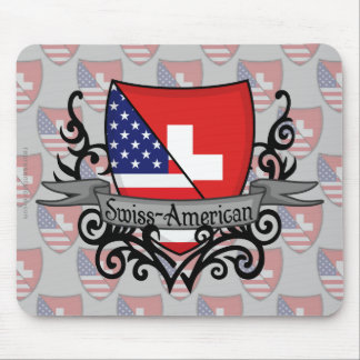 Swiss-American Shield Flag Mouse Pad