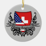 Swiss-American Shield Flag Ornaments