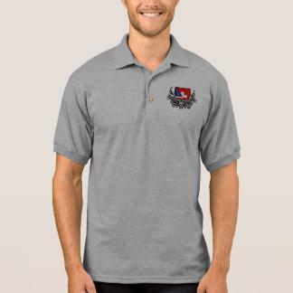 Swiss-American Shield Flag Polo Shirt