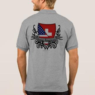 Swiss-American Shield Flag Polo T-shirt