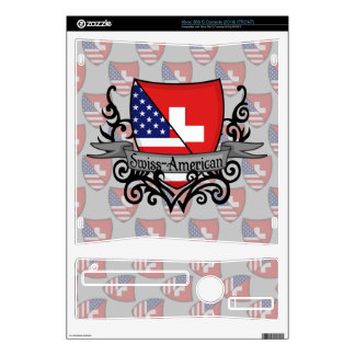 Swiss-American Shield Flag Decal For Xbox 360 S