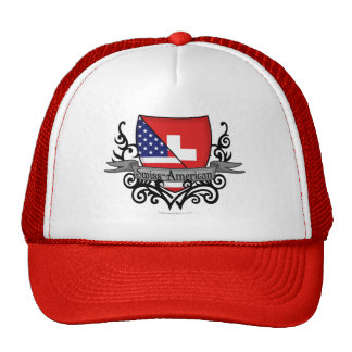 Swiss-American Shield Flag Trucker Hat