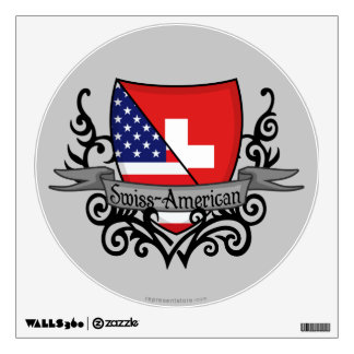 Swiss-American Shield Flag Wall Decal