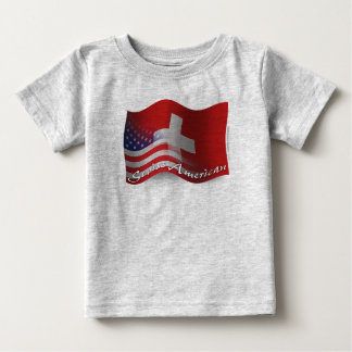 Swiss-American Waving Flag Baby T-Shirt