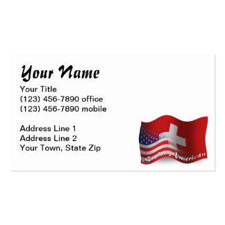 Swiss-American Waving Flag Business Card