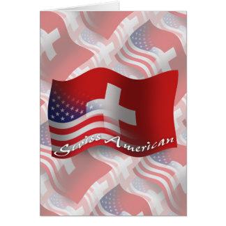 Swiss-American Waving Flag Card