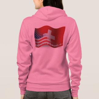 Swiss-American Waving Flag Hoodie