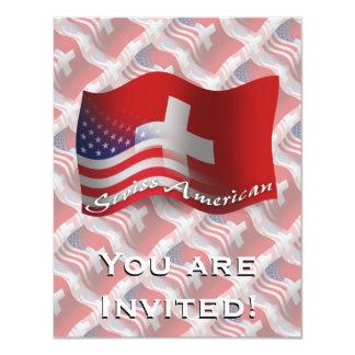 Swiss-American Waving Flag Invitations